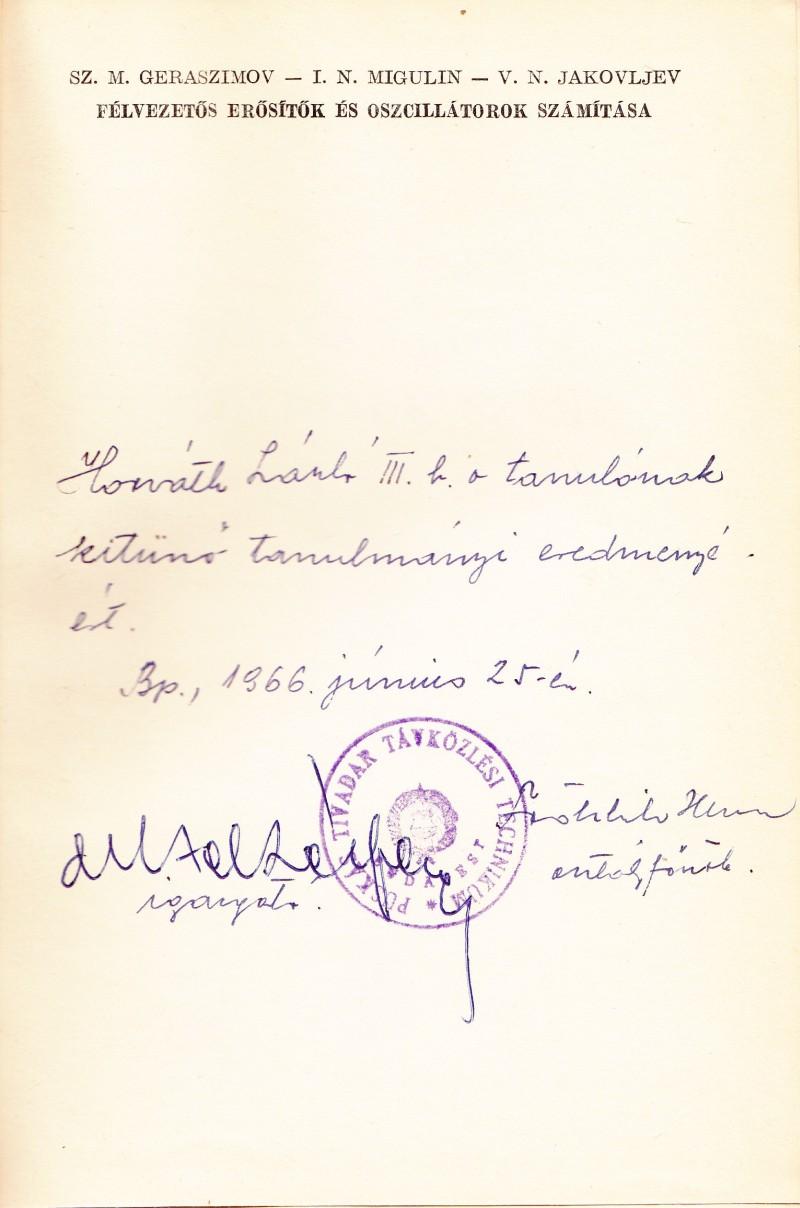Fröhlich Henrik dicsérete